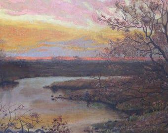 Arthur F Davis Oil Landscape Painting