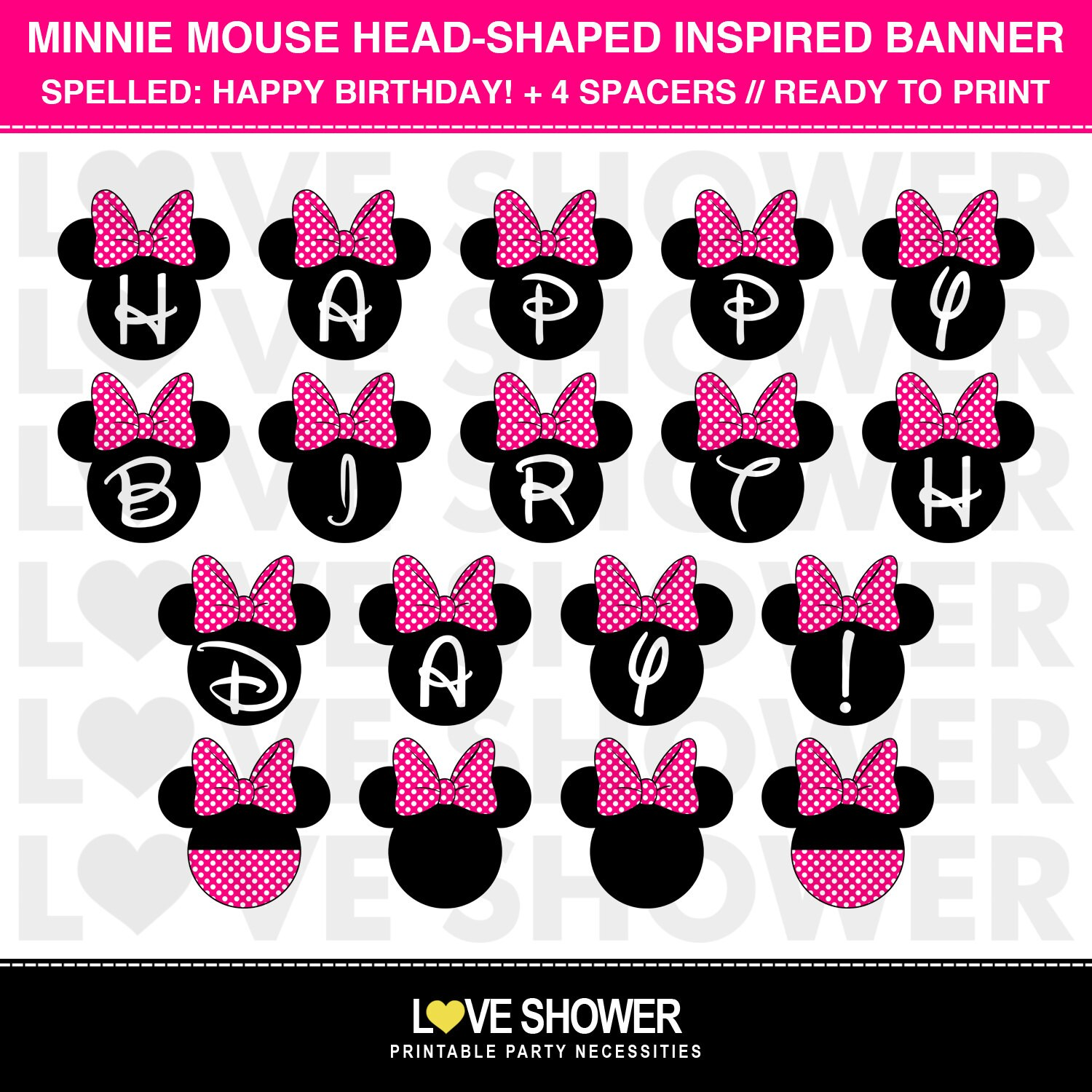 Minnie Mouse Cake Toppers Etsy