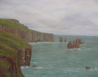 Shetland  Braewick Mainland...Sea Stacks.....oil painting