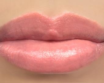 """Sheer Lipstick - """"Soft Spoken"""" light peach natural vegan mineral lipstick"""