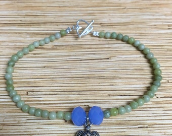 Stone Sea Turtle Anklet