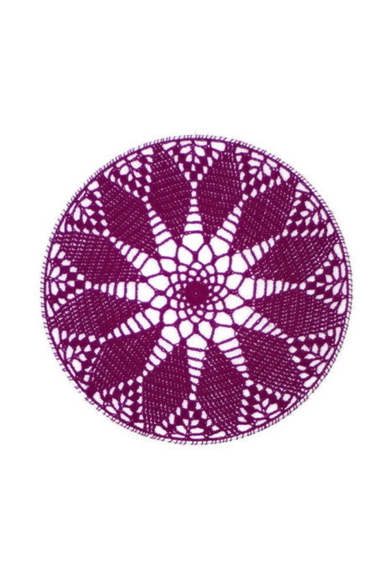 Crochet Earring Holder Purple Home Decor Jewelry Organizer