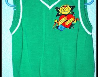 Boys Rockabilly Tattoo Vest....size 3