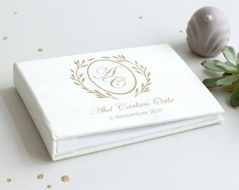 Personalized White Baby Book, Baby Gift, Baby Album, Baby Memory Book, Baby Keepsake, Modern Baby Book