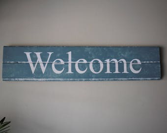 "Ship lap ""Welcome"" Sign"