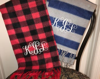 Personalized and Monogrammed Scarves 2 to choose from (Add your personal initials)