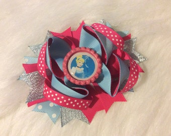 Snow White Stacked Hair Bow
