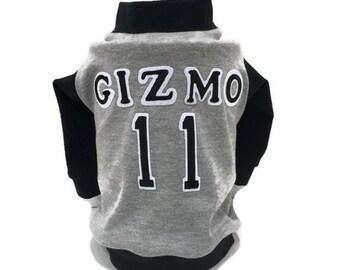 Personalized Custom Dog Jersey-Baseball Dog Shirt-Custom Dog Shirt-Dog Costume-Dog Shirt-Baseball Shirts-Personalized Dog Clothes