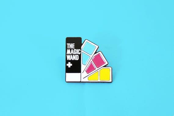 The Magic Wand Pantone Color Swatch Book Soft Enamel Lapel Pin