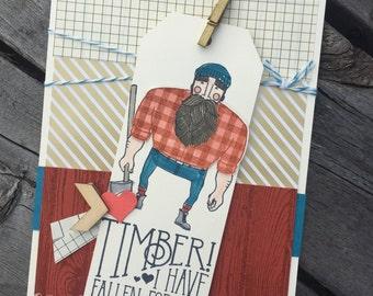 Lumberjack Love Handmade Card