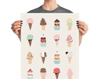 I Heart Ice Cream Poster