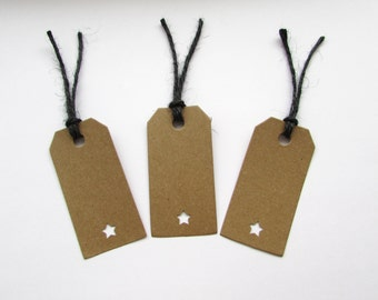10 Star Gift Tags, Gifts, Wedding, Presents, Natural, Special, Handmade, Free postage to UK
