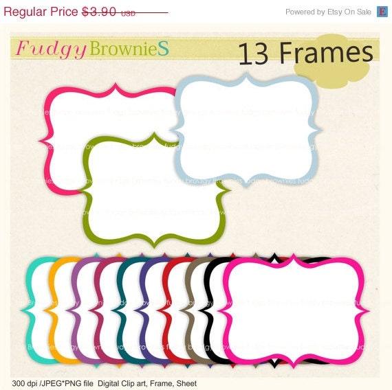 ON SALE Digital frame square label bright colour digital