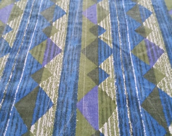 Fabric by the yard, Vintage, modern print, yardage, diamond and stripe pattern, quilt, fabric by the yard Width 36, Length 36, 1 yard
