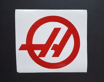 Haas F1 Team logo sticker/ vinyl decal