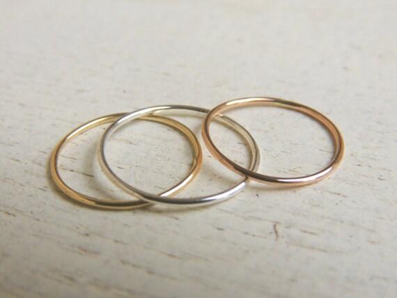 14 k wei gold ringe f r frauen 14 k gelb gold daumen ringe. Black Bedroom Furniture Sets. Home Design Ideas