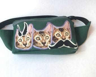 Wise Cats Fanny Pack Bum Bag Festival Bag Hip Bag Utility Belt Purse Backpack Sling Bag