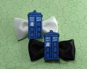 Doctor Who Tardis Hair Bow