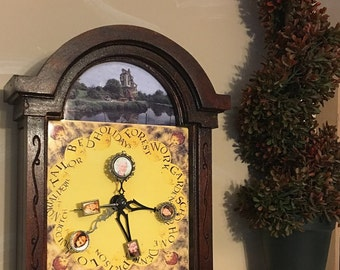 Molly Weasley's Wood Clock Customized with Your Family Photos  From Harry Potter