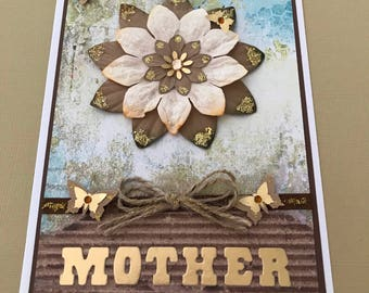 Handmade 'Mother' card for Mother's Day or any Mother occasion