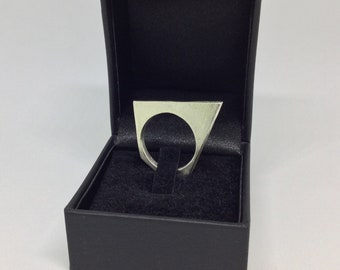 Geometric Ring, Sterling Silver 925