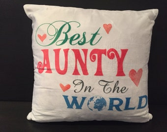 Best Aunty in the World Cushion