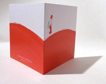 Post card, humor, thirst, wilderness, summer