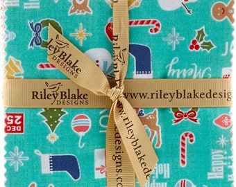 COZY CHRISTMAS - 5 Inch Stackers -  42 pc Cotton Quilt Fabric Squares - 5-5360-42 - Lori Holt for Riley Blake Designs Fabrics (W4335)