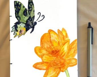Handmade Butterfly Notebook