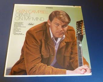 Glen Campbell Gentle On My Mind Vinyl Record LP ST 2809 Capital Records 1967