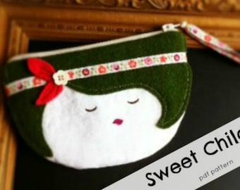 Sweet Child Zipper Pouch Pattern -PDF File INSTANT DOWNLOAD