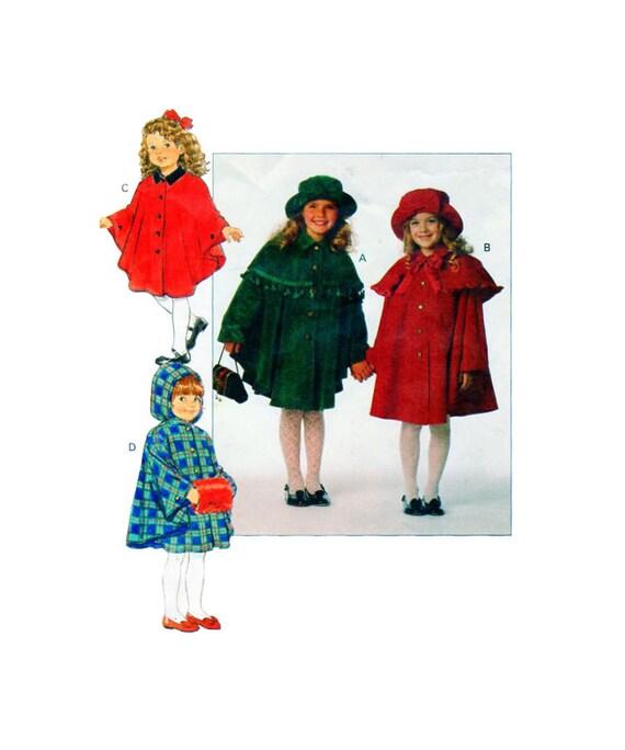 Butterick 3041, Mädchen, Cape, Capelete, Poncho, Winter Wrap, Eimer ...