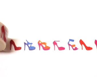 High Heel Washi Tape, Washi Tape, Shoe Washi, Planner Washi Tape, Planner Tape, Scrapbook Supplies, Shoes