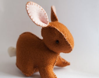 Easter Rabbit Plushie Pdf - Waldorf toy