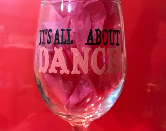 All About Dance Hand Painted Glass