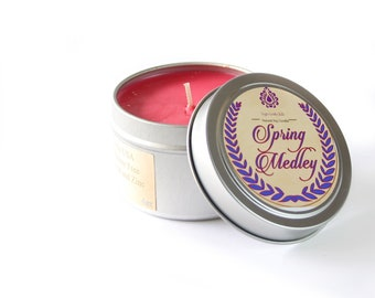 Spring Medley - Natural Soy Candle - 4 oz