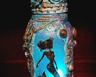 Beautiful Mermaid in a Jar part of the Fairy in a Jar collection