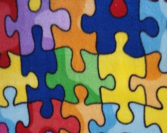 Puzzle Pieces Fleece (29 inches)