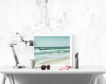 Sea prints - Light blue wall art - Blue wall art - Ocean wall decor -  Printable beach decor - Digital download beach art - 8x10 photo print