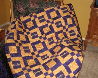 Custom Order Crown Royal Quilt Made from Your Bags