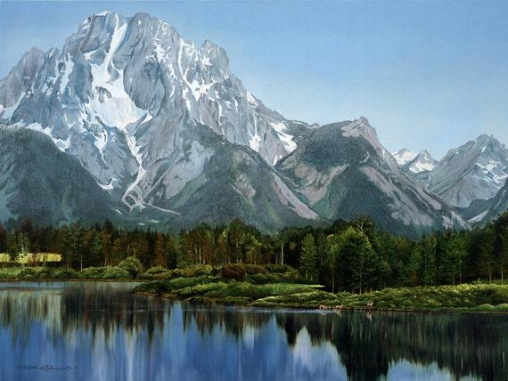 Mountain Scene Of Idaho Beautiful Setting Teton Mountains