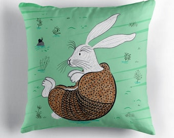 "The Rabbidillo - Throw Pillow / Cushion Cover (16"" x 16"") by Oliver Lake / iOTA iLLUSTRATION"