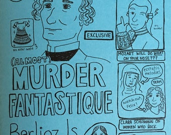 InTune, Issue 1: a zine / tabloid parody of classical music composers!