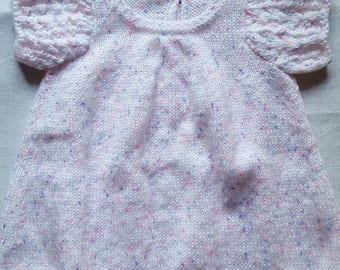 Heather pink and purple girl dress in size 1 year