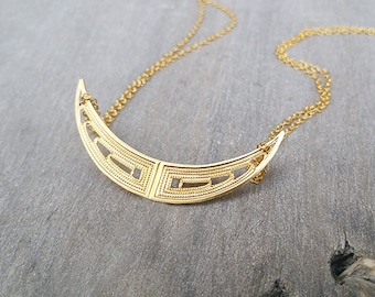 Gold necklace chain, Gold wings necklace, Modern gold necklace, Gold pendant necklace, Special gifts, Necklace for women, Handmade jewelry