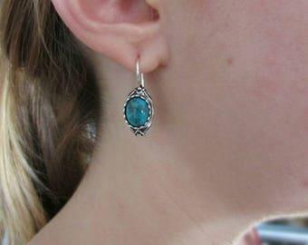 Turquoise earrings, Jewelry, earrings, sterling silver earrings, dangle & drop earrings, israeli earrings, sale, gift, sale