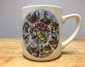 California Souvenir Mug Vintage 1970s