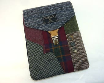 IPad sleeve, iPad  case  iPad 2 and 3 case eletronics case Recycled case  Eco Friendly  Recycled suit coat Ready to Ship