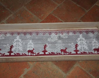 large wooden tray with handles