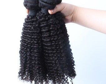 Kinky curly Brazilian human hair weave